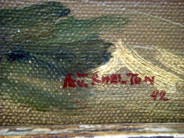 57: Alphonse J. Shelton oil on canvas - 2