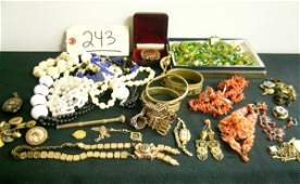 APPROX THIRTY-EIGHT PCS. COSTUME JEWELRY