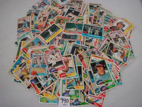 940: 1981 TOPPS BASEBALL CARD SET