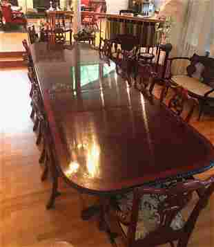 Chippendale Style Best Quality Mahogany Dining Table.