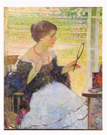 Richard Miller. Important Impressionistic Oil. Sgd.