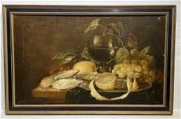 20thC. Polish Oil - A Table Still Life