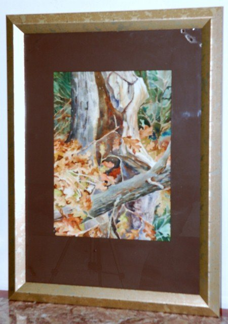 13: WATERCOLOR AUTUMN LANDSCAPE SIGNED KEITH