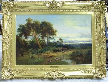 153: AMERICAN OIL PAINTING SIGNED PARTON