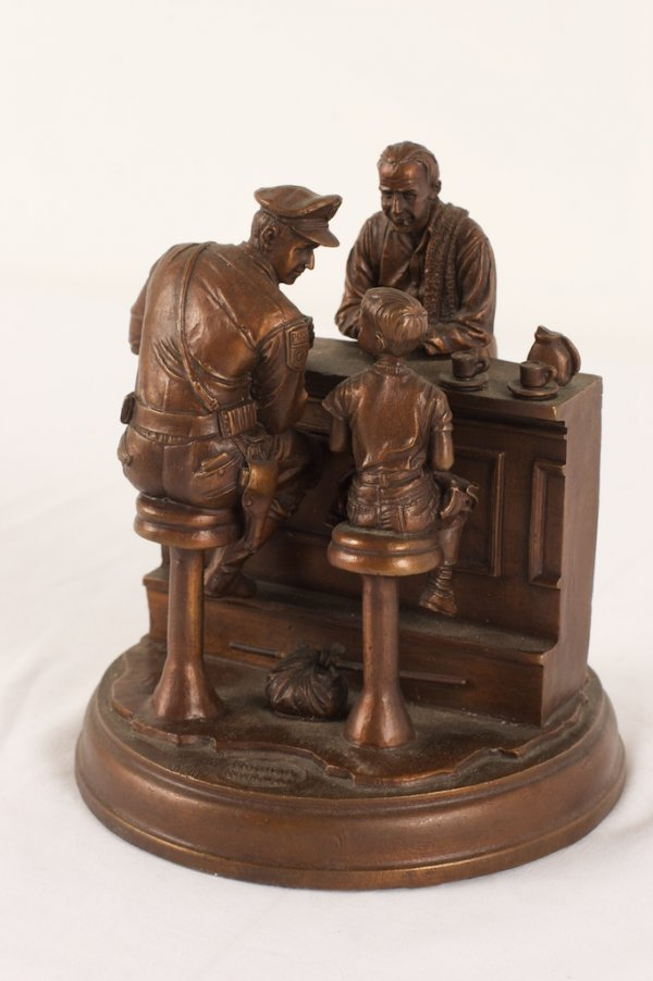 NORMAN ROCKWELL(AFTER) BRONZE SCULPTURE
