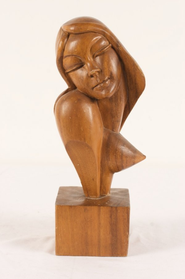 HAGENAUER WOOD CARVED BUST OF A WOMAN