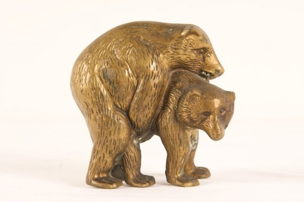 20TH C. BRONZE OF BEAR GROUPING