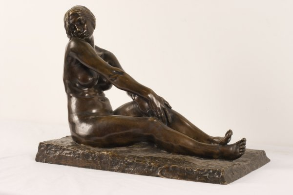 ALEX. MARQUET; BRONZE OF A  NUDE SIGNED
