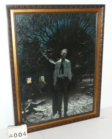 DEAN CORNWELL OIL PAINTING SIGNED