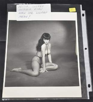 Bettie Page Photograph