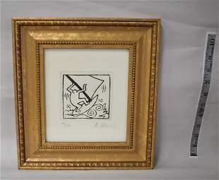 K. Haring Ltd Ed. Lithograph Signed