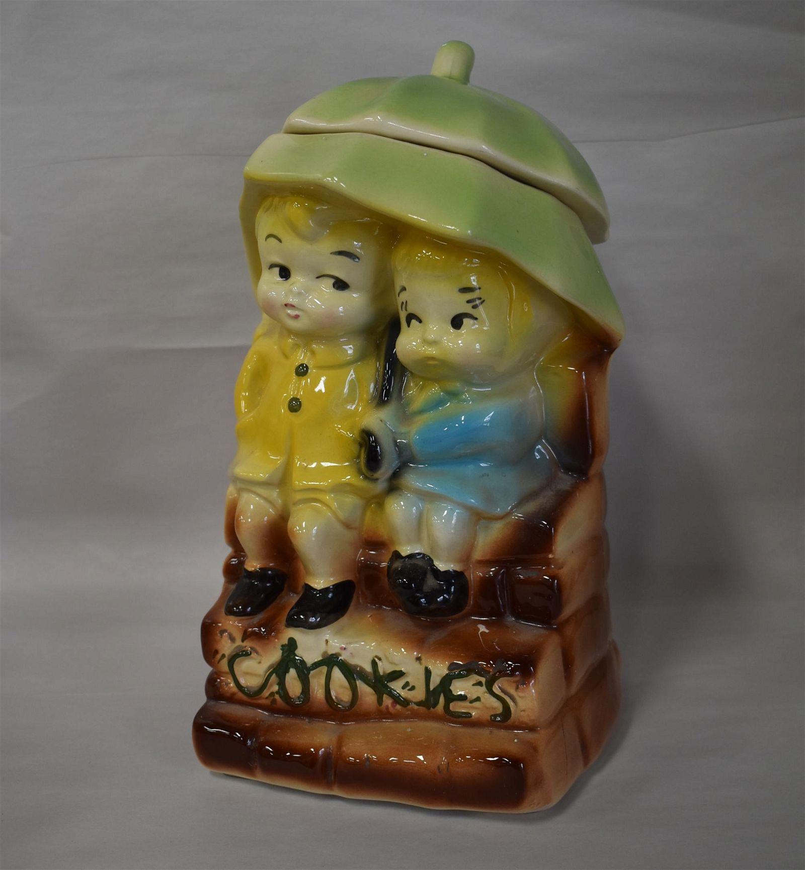 American Bisque Umbrella Kids Cookie Jar
