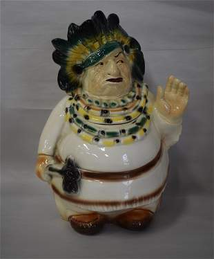 Rare Lane Indian Chief Cookie Jar