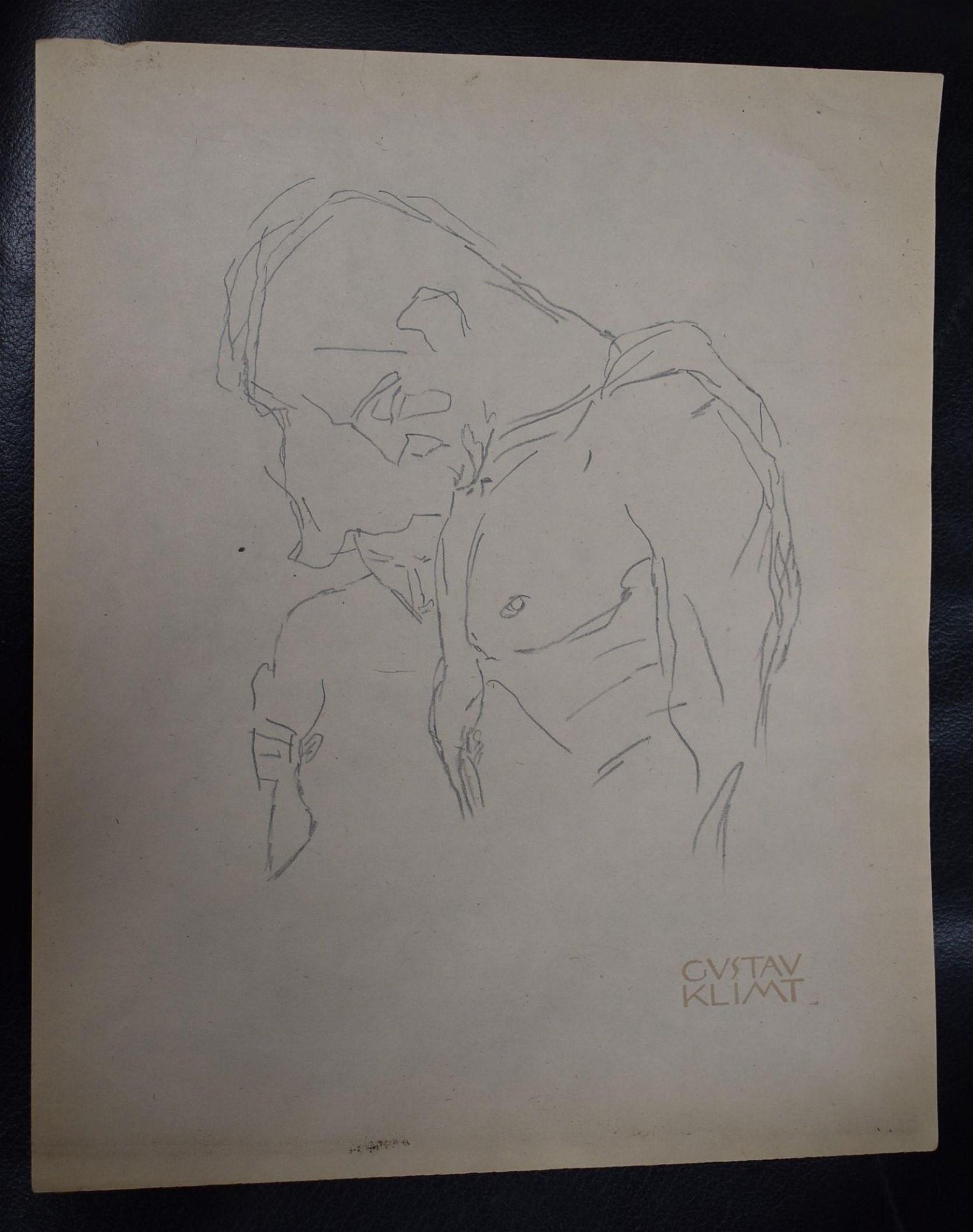 Gustav Klimt Blind Contour Drawing