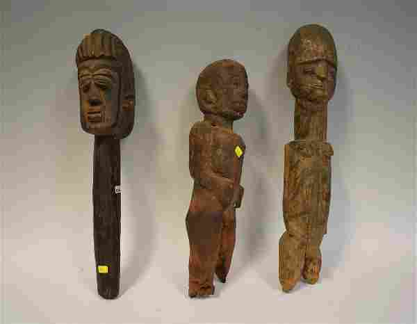 Collectors Lot of African Carved Figures (3)