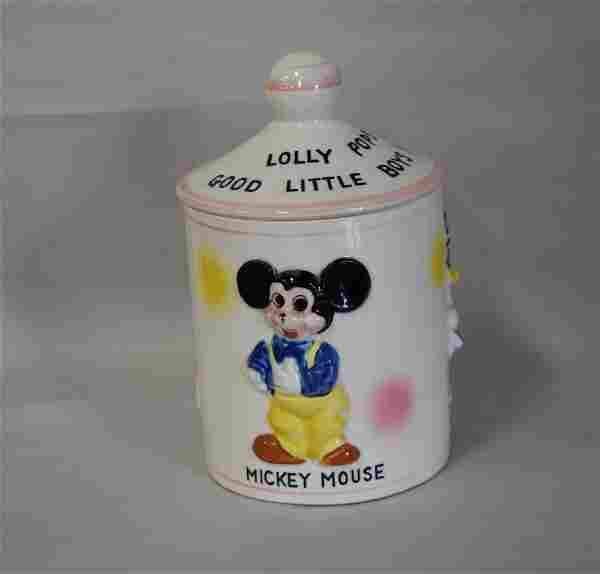 Disney Pop Jar W/Characters C. '61 Hard to Find