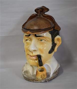 Rare Sherlock Holmes Cookie Jar. Comoys