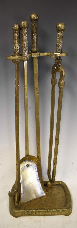 Antique Fireplace Tools on Stand