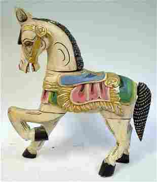 Carved Painted Horse