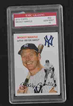 2012 Topps Mickey Mantle Graded Card