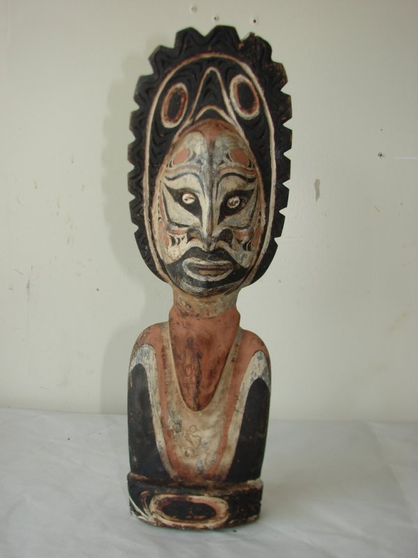 POLYCHROMED AFRICAN FIGURE