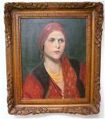 165: F. LUIS MORA; OIL PAINTING SIGNED