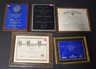 Bunny Yeager Awards, Plaques & Certificates (5)