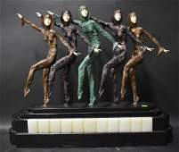 """After Chiparus Bronze """"The Chorus Line"""""""