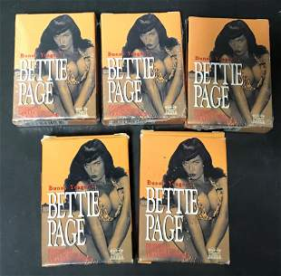 (5) Bettie Page Collectible Trading Cards Unopened