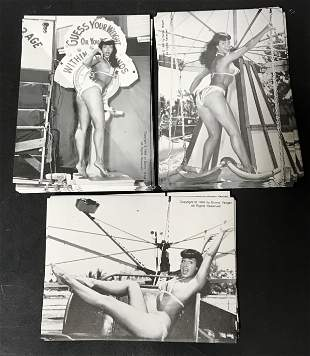 (50) Plus Bettie Page Cards