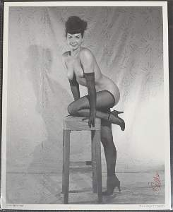 Bettie Page Signed Photo