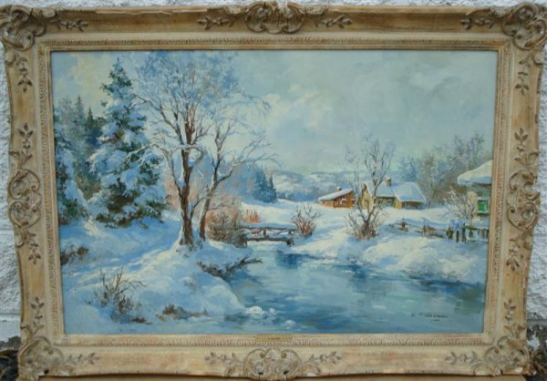 ERNEST F. KARGER; OIL PAINTING SIGNED