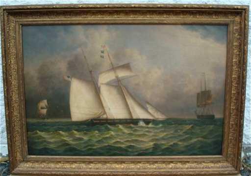 J Clark Oil Painting Signed