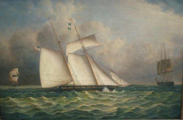 J. CLARK; OIL PAINTING SIGNED - 2