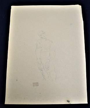 Egon Schiele Sgd. Sketch