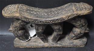 Early African Carved Wooden Head Rest