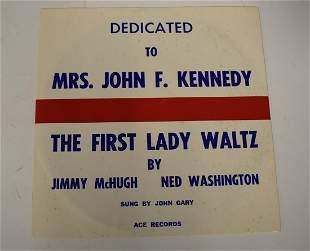 "Jimmy McHugh Record ""The First Lady Waltz"""