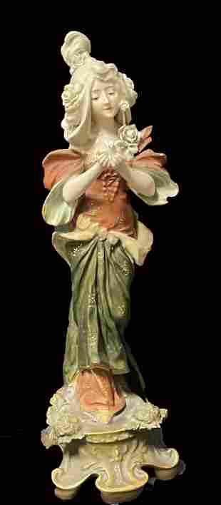 Art Nouveau Austrian Hand Painted Porcelain Grouping