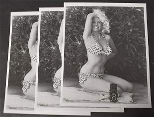 (3 )Photo's Bunny Yeager With Camera Self Portrait .