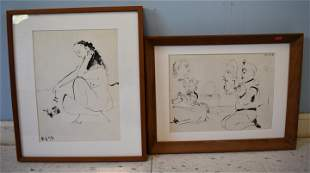 Pr. Picasso Etchings Framed