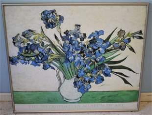 Van Gogh Style Iris Print. Framed