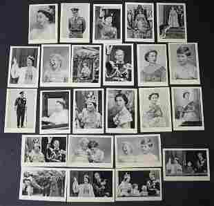 1953 Royal Portraits Complete Set of 24