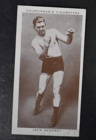 1938 Churchman Jack Dempsey Card