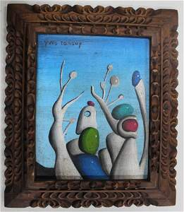 Surreal Oil on Canvas Sgd. Yves Tanguy