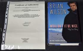 """Brian Wilson, """"Wouldn't It Be Nice"""" My Own Story Sgd."""