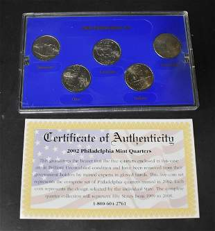 2002 Phila. Mint Ed. State Quaters