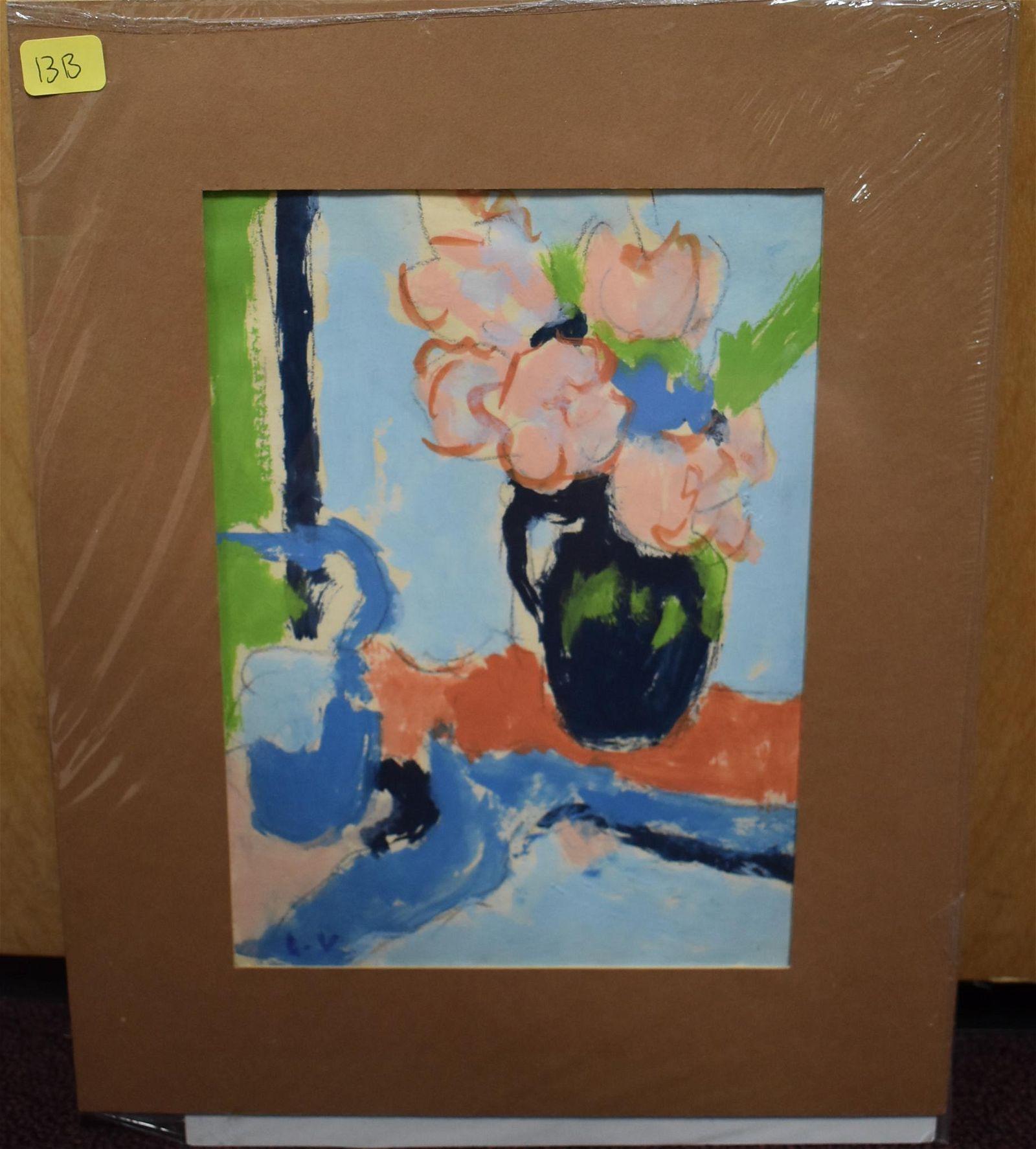Louis Valtat 20th C. French Floral Oil/Paper
