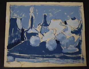 Louis Valtat 20th C. French Fruit/Wine Oil