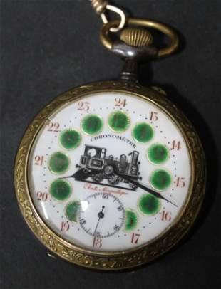 Rare French Locomotive Pocket Watch/Chronometer