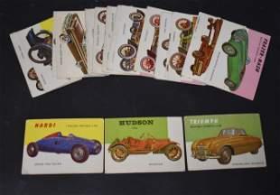 1954 Topps World on Wheels Set of 21